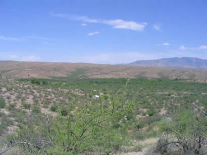 A Spirit Walker's canopy-protected site in gorgeous Aravaipa landscape