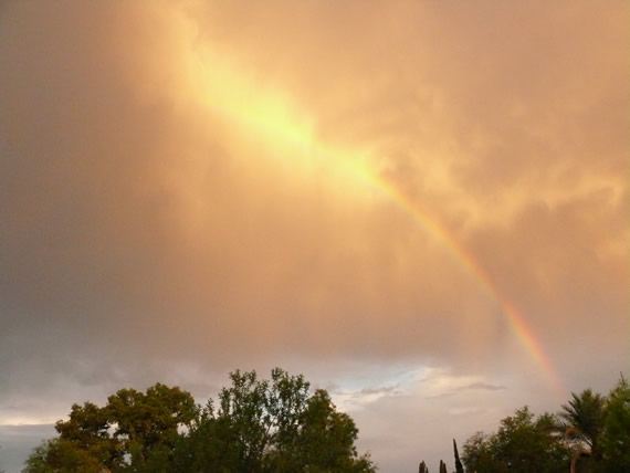 Monsoon rainbow, Tucson, 2007